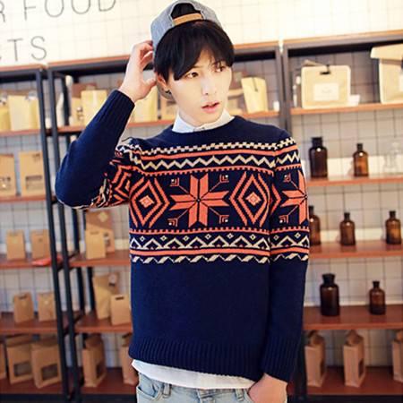 mssefn2014年爆款秋冬新款雪花图案韩版毛衣 男士2033 M34