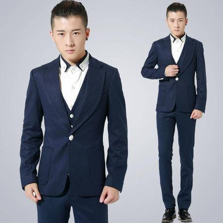 mssefn 2014新款韩版修身单扣亮点男士休闲西服小西装1515-X210