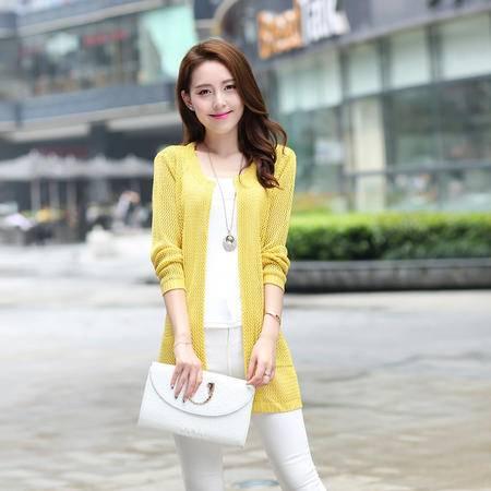 Mssefn2014秋冬季新款韩版女装开衫中长款针织毛衫m16