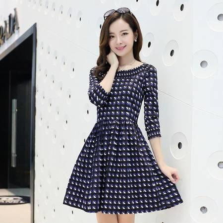 Mssefn2014秋冬季新款韩版女装时尚中袖连衣裙子y07