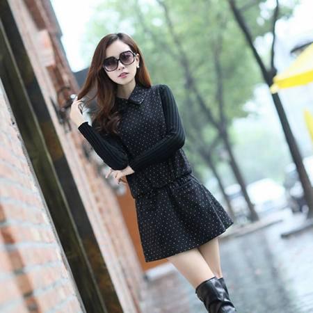 Mssefn2014秋冬季新款韩版女装百搭毛呢打底裙连衣裙子yo2
