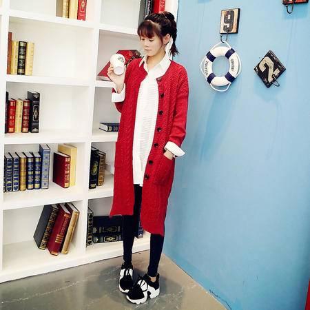 Mssefn2014秋冬新款潮女装韩版休闲中长毛衣针织衫 8528 Y49