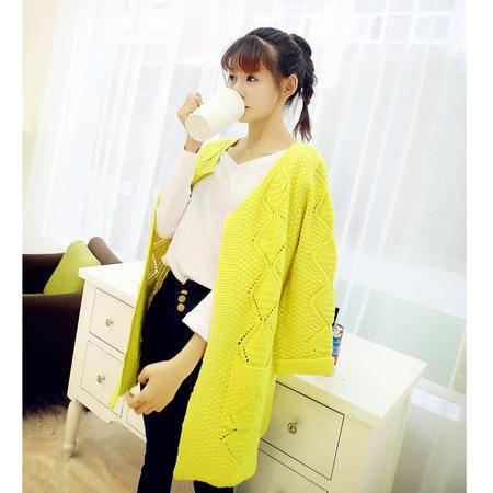 Mssefn2014新款秋冬装女士纯色开衫毛衣女针织衫  8528  Y60