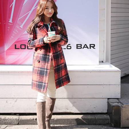 Mssefn 2014秋冬新款 韩版新款呢子大衣 外套8508 D05