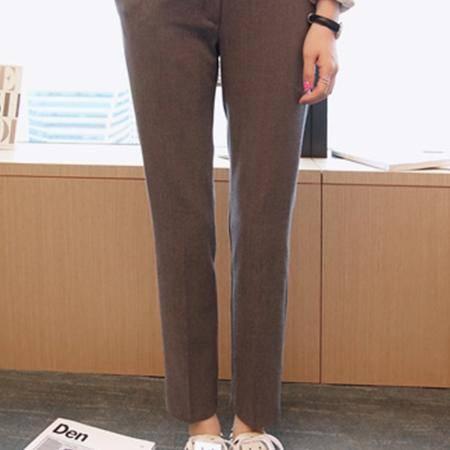 Mssefn 2014秋冬新款 韩版女士时尚灰色简约休闲裤 8618-K07