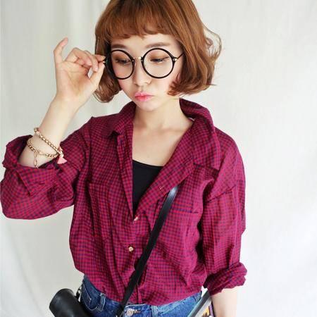 Mssefn 2014秋冬新款 女装韩版中长款长袖衬衫8101-B91