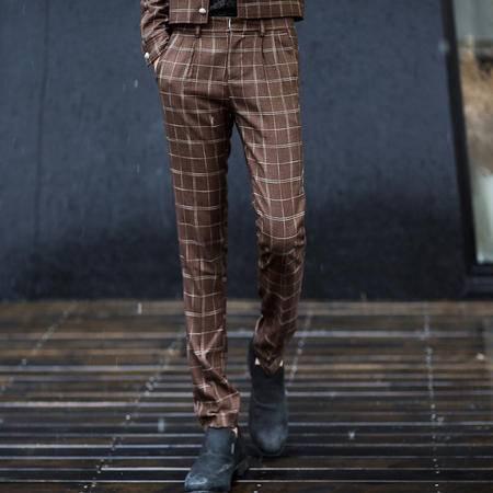 Mssefn 2014秋冬新款 英伦风 格子 男士长裤803K127