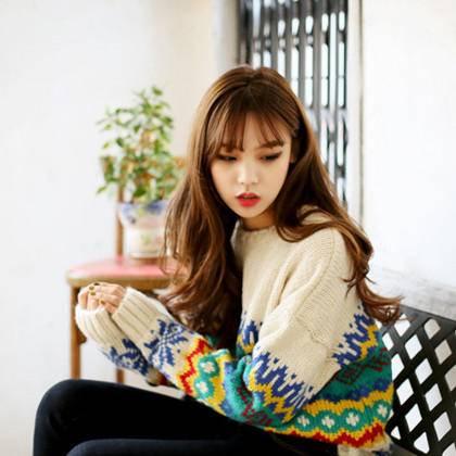 Mssefn 2014秋冬新款 韩版时尚圆领长袖甜美毛衣休闲女套头上衣8406-Z010