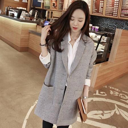 Mssefn 2014秋冬新款 韩版高档棉麻西装 8406-W002