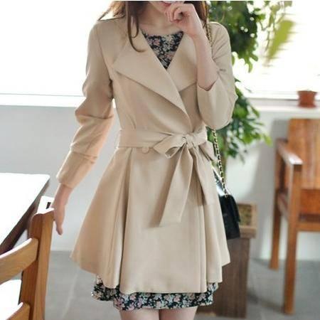 Mssefn 2014秋冬新款 韩版时尚休闲女生风衣 女士外套8402-F01