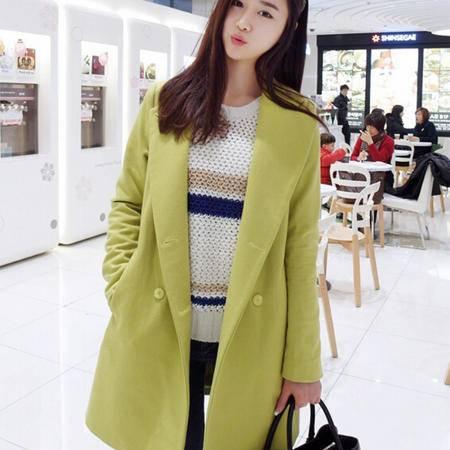 Mssefn 2014秋冬新款 韩版女装 毛呢大衣外套 8402-W17