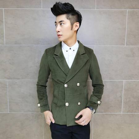 Mssefn 2014秋冬新款 韩版英伦 时尚修身双排扣绅士气质呢料大衣 男士毛呢大衣T71