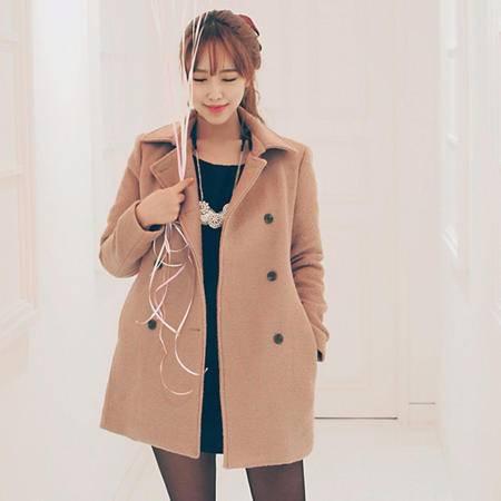 Mssefn 2014秋冬新款 女装羊毛呢中长款外套 D25 P125