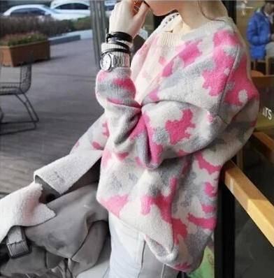 Mssefn 2014秋冬新款 韩版宽松休闲时尚百搭套头针织衫毛衣女8410-B40