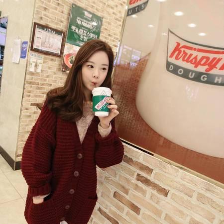 Mssefn 2014秋冬新款 韩国 三色 基本款 毛衣外套开衫 8413M14