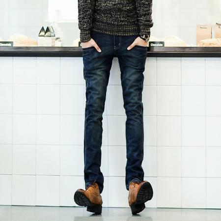 Mssefn 2014秋冬新款 韩版修身潮男水洗直筒牛仔裤 男士长裤K135