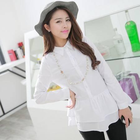 Mssefn 2014秋冬新款 白衬衫 女 长袖 春装新款8409/Y05