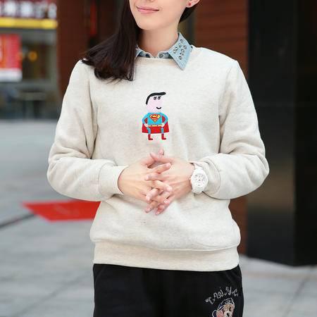 Mssefn 2014秋冬新款 超人抓绒卫衣8412-w01