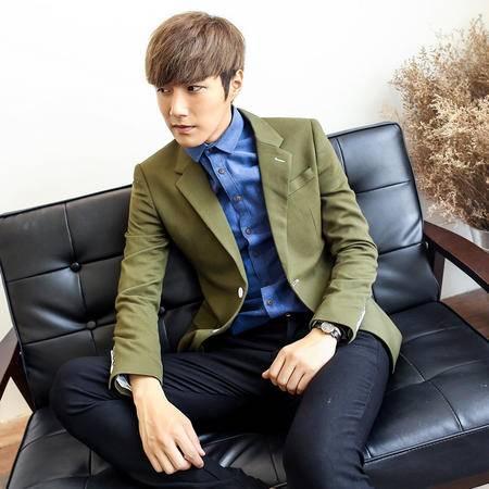 Mssefn 2014秋冬新款 高端 韩版修身男士收腰两粒扣小西装外套XZ107