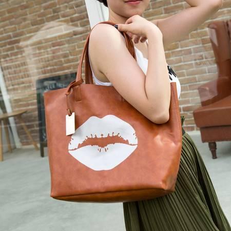 Mssefn 2014最新款 韩版新品女包嘴唇单肩大包时尚手提包大容量潮流子母包A025