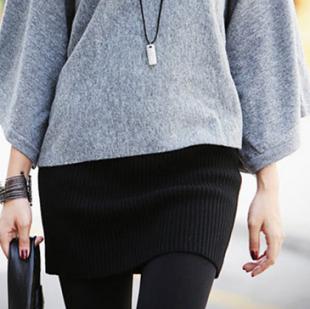 Mssefn 2014秋冬新款 包臀毛线半身裙668179