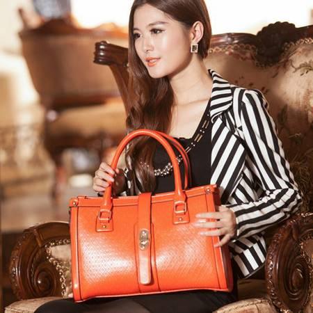 Mssefn 2014最新款 OL韩版牛皮女包手提斜挎包包3222