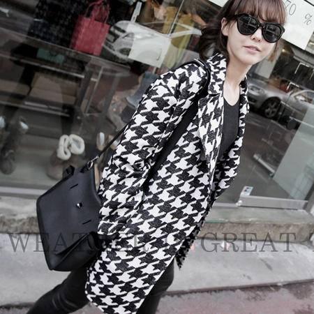 Mssefn 2014秋冬新款 韩版女装中长款外套 N604
