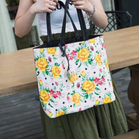 Mssefn 2014最新款 韩版新款潮流复古包休闲子母包油画玫瑰花单肩包手提女包A025