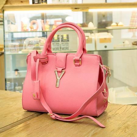 Mssefn 2014最新款 真皮女包时尚潮流单肩斜挎手提包Y字杂志款女式包包A025
