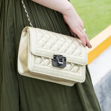 Mssefn 2014最新款 欧美时尚女包小包休闲单肩斜挎包小香风女包菱格链条包A025
