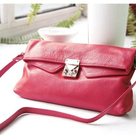 Mssefn 2014最新款 复古牛皮单肩斜跨小包手拿包手包外贸包包真皮女包2098