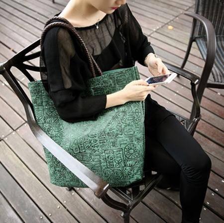 Mssefn 2014最新款 欧美大牌休闲超大子母包大包 包中包K002