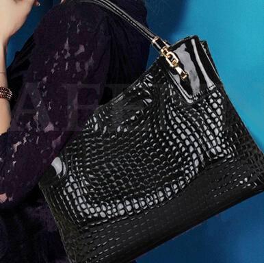 Mssefn 2014最新款 鳄鱼纹女包欧美包包牛皮红色新娘包手提包女潮7002