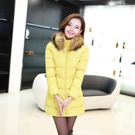 Mssefn 2014秋冬新款 女装韩版中长款修身女式羽绒棉衣休闲YXBL861