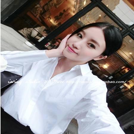 Mssefn2015新款韩版衬衫女 时尚简单