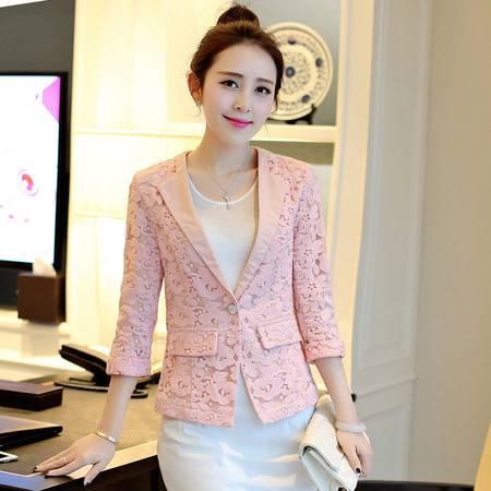 Mssefn2015春装新款时尚潮流百搭甜美上衣小西装g143