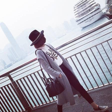 mssefn2015新款带帽针织开衫女8418-1018