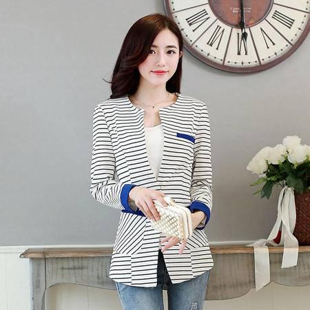 mssefn2015春季韩版修身外套时尚百搭女装一粒扣小西装750568-1646-2
