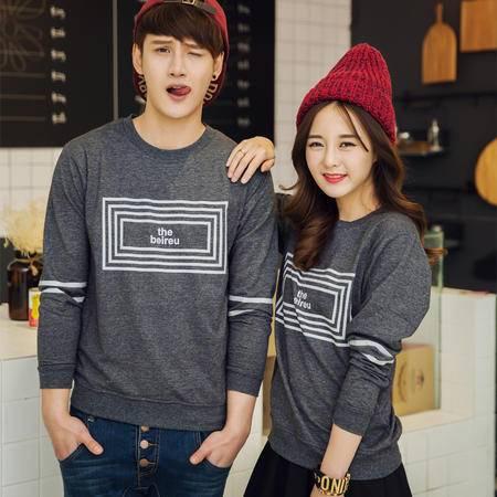 mssefn2015韩版春装新款 韩版方格图案情侣卫衣套头衫 班服A332-W522