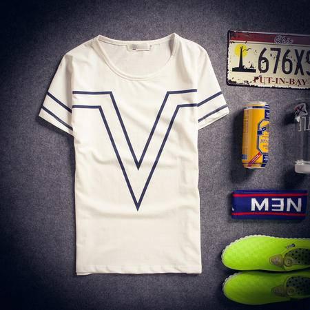 mssefn2015夏装新款情侣装 韩版修身圆领短袖T恤TX06