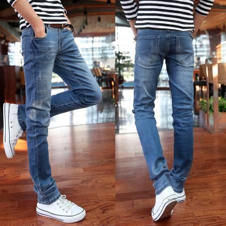 mssefn2015春夏款男式牛仔裤 韩版修身小脚裤 薄款铅笔牛仔裤B320-8821