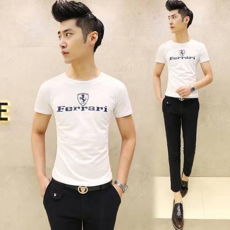 mssefn2015夏装爆款 男装韩版圆领休闲短袖T恤 修身百搭短T恤T20