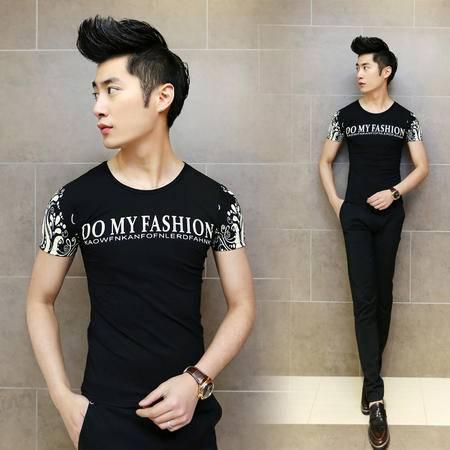 mssefn2015夏装新款 韩版潮流英文时尚短袖T恤T01