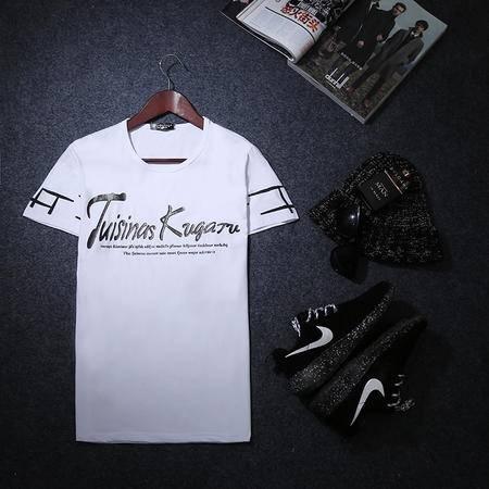mssefn2015夏季新款短袖体恤2015潮男韩版修身T恤时尚男士短Y8314