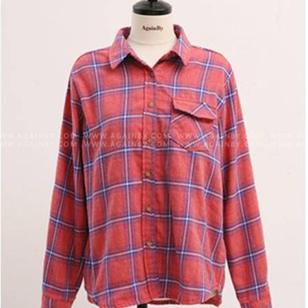 mssefn2015新款春装格子衬衫8418-1029