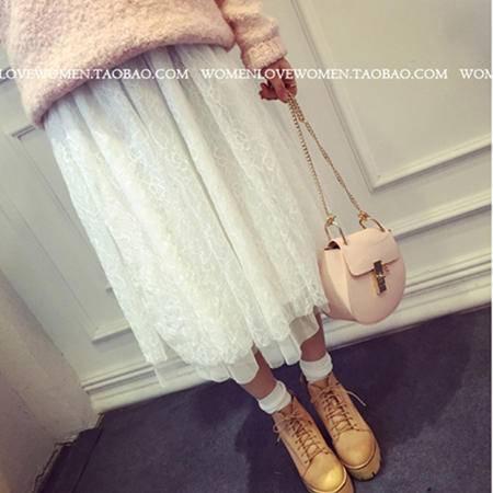 mssefn2015春装新款韩版甜美百搭蕾丝裙1021