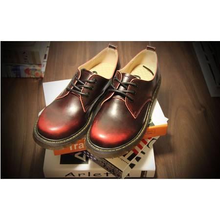 Mssefn2015新春夏常青款情侣皮鞋小码男擦色做旧马丁靴圆头潮X012