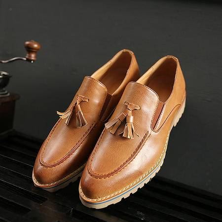 Mssefn2015新款英伦低帮男鞋乐福鞋 潮流时尚流苏鞋子 船鞋男X101