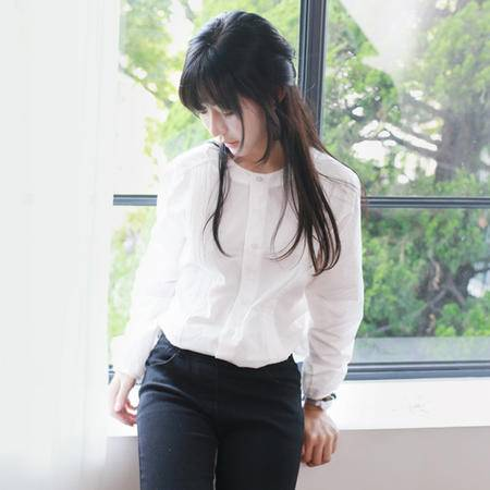 Mssefn2015春季新款女士韩版显瘦微弹衬衣C667