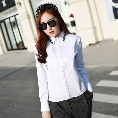mssefn2015春装新款个性时尚休闲长袖衬衫4821